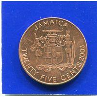 Ямайка 25 центов 2003