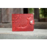 Маленький красный кожаный кошелек Восточный Сад