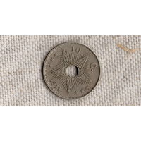 Конго Бельгийское 10 сантимов 1911 /(JL)