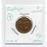 Барбадос 5 центов 2004 года -4