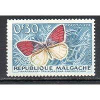 Бабочки  Мадагаскар 1960 год 1 марка
