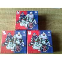 3 запечатанных блока наклеек SeReal КХЛ 2012-13 года.