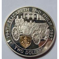 Каймановы  2 доллара 1997 г