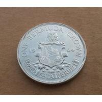 Бермудские острова, крона 1964 г., серебро, Елизавета II