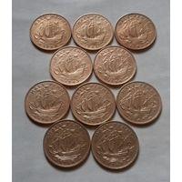 1/2 пенни, Великобритания погодовка 1940-х