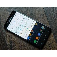 "Samsung Galaxy J7 (2017) Android, экран 5.5"" AMOLED (1080x1920), Exynos 7870, ОЗУ 3 ГБ, флэш-память 16 ГБ, карты памяти, камера 13 Мп, аккумулятор 3600 мАч, 2 SIM, цвет черный, очень хорошее состояние"