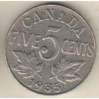 Канада 5 цент 1935