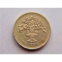 Великобритания 1 фунт 1987