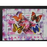 Конго 2012г. Бабочки.