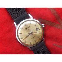 Часы SEKONDA de LUXE AUTODATE НЕРЖАВЕЙКА (ПОЛЕТ де ЛЮКС на ЭКСПОРТ ) РАРИТЕТ из СССР 1970-х