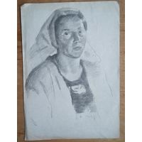 Крохалев Петр. Женщина. 21х29 см. Рисунок. Бумага. карандаш