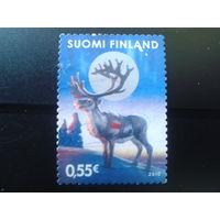 Финляндия 2010 Рождество, олень