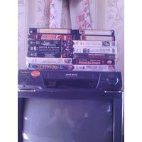 Видеомагнитофон Panasonic и 15 кассет  и телевизор jvs  в подарок разного жанра и ещё много хороших лотов