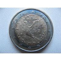 Финляндия 2 евро 2005г. 60 лет Организации Объединенных Наций и 50-тая годовщина членства Финляндии в ООН. (юбилейная) UNC!