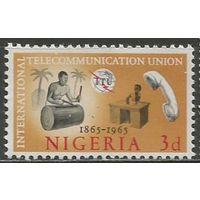 Нигерия. 100 лет Международному Союзу связи. 1965г. Mi#166.