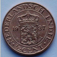 Голландская Ост-Индия 1/2 цента. 1937