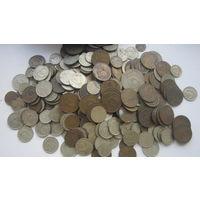 Монеты СССР поздние 1,2,3,5,10,15,20 и др. более 300 шт.