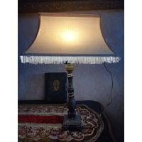 Старинная настольная лампа бронза,  латунь