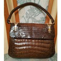 Дамская сумка класса люкс из натуральной кожи крокодила.Как новая !