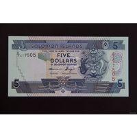 Соломоновы острова 5 долларов 2011 UNC