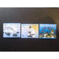 Финляндия 2007 сказка Туве Янсона, марки из буклета