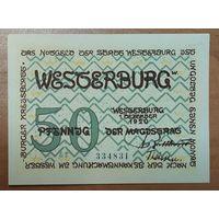 50 пфеннигов 1920 года - нотгельд Вестербург - UNC