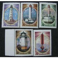 Маяки Черного и Азовского морей СССР 1982 год (5358-5362) серия из 5 марок**