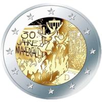 2 евро 2019 Германия J 30 лет падения Берлинской стены UNC из ролла НОВИНКА