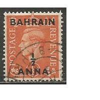 Бахрейн. Король Георг VI. Надпечатка на #246 Британии. 1950г. Mi#70.