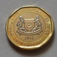 1 доллар, Сингапур 2014 г., AU