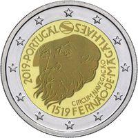 2 евро Португалия 2019 500 лет кругосветном у плаванию Магеллана ( из ролла)