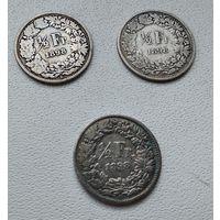 Швейцария 1/2 франка, 1898 7-6-25*27