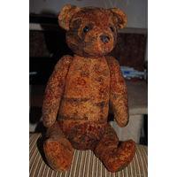Медведь-Тедди из ГДР 45 см. После полной реставрации, восстановленный с нуля, из родного, винтажного плюшика, т.как была произведена замена всего нутра, а так же на свет появились новые глазки с носом