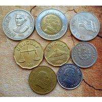 Уругвай. 8 монет 1960-2000 г.