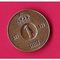 38-04 Швеция, 1 эре 1957 г.