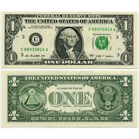 США. 1 доллар (образца 2009 года, C, Пенсильвания, P530, UNC)