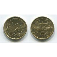 Словакия. 20 евроцентов (2009, XF)