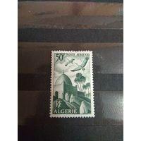 Французская колония Алжир авиапочта фауна архитектура клей лёгкая наклейка (2-12)