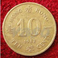 7443:  10 центов 1982 Гонконг