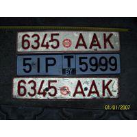 Автомобильные знаки РБ образца 1996 года+транзитный