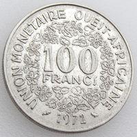 Западная Африка, 100 франков 1972 года, KM#4, растения, цветы/ золотая гиря
