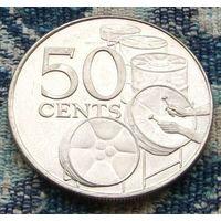 Тринидад и Тобаго 50 центов 2003 года. UNC. Инвестируй в монеты планеты!