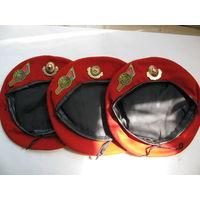 Берет красный МЧС РБ. размеры 55, 56, 57. цена за 1 шт.