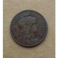 Франция, 10 сантимов 1916 г., большая монета