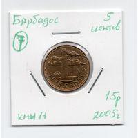 Барбадос 5 центов 2005 года -7