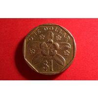 1 доллар 1995. Сингапур.