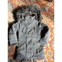 Зимняя фирменная курточка на рост 110 на худышку.