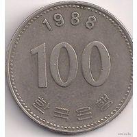 Южная Корея 100 вон 1988