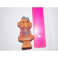 Обезьянка, мартышка - игрушка резиновая СССР, цельнолитая