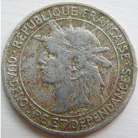 30. Гваделупа 1 франк 1903 год